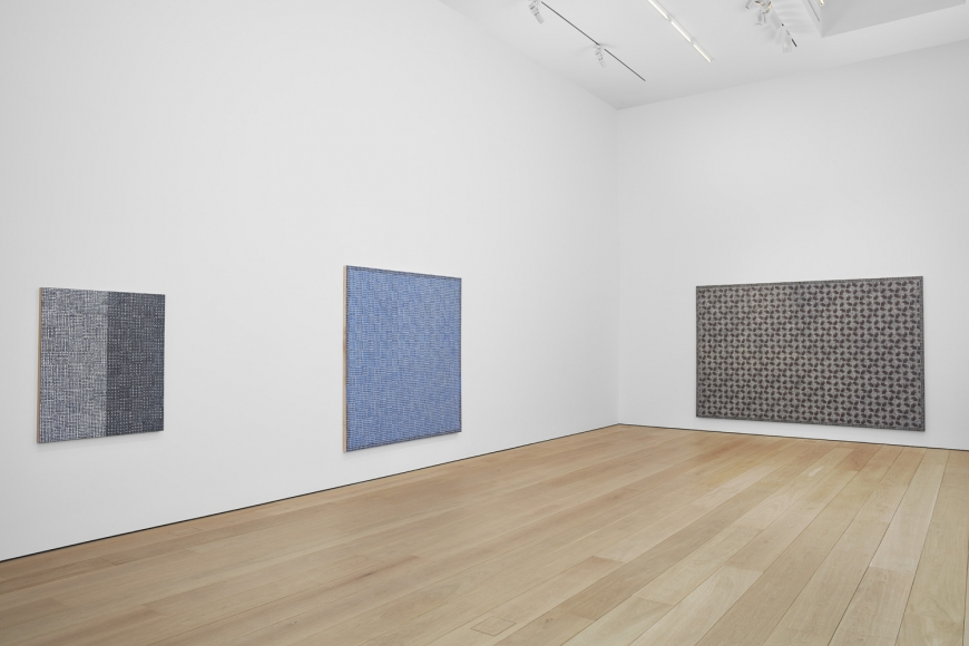 McArthur Binion, Hand:Work Installation view, Lehmann Maupin, New York, 2019