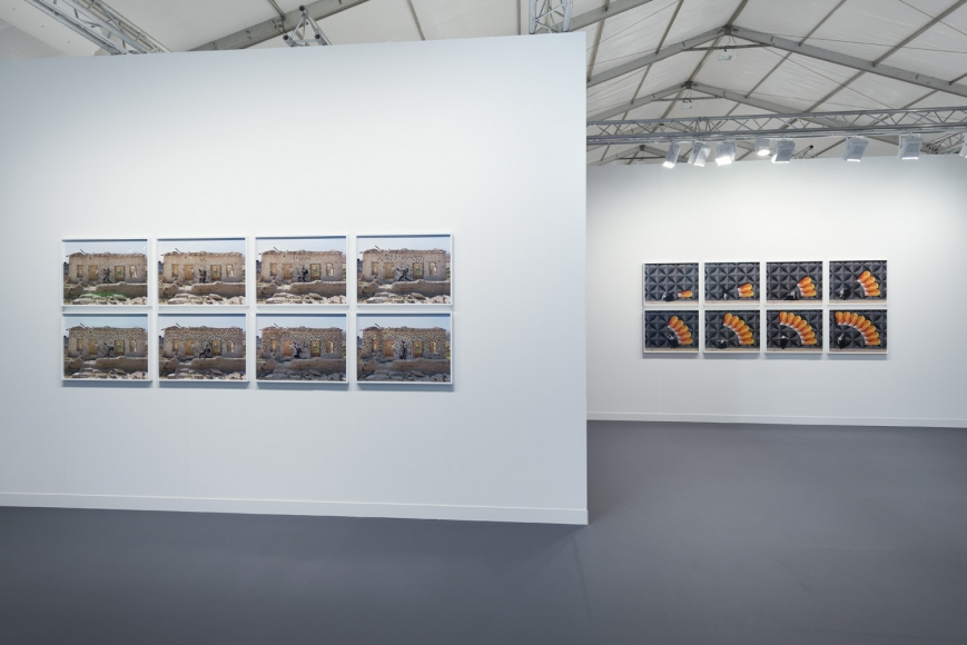 Installation view of Lehmann Maupin's booth at Frieze art fair in London 2019, view 5
