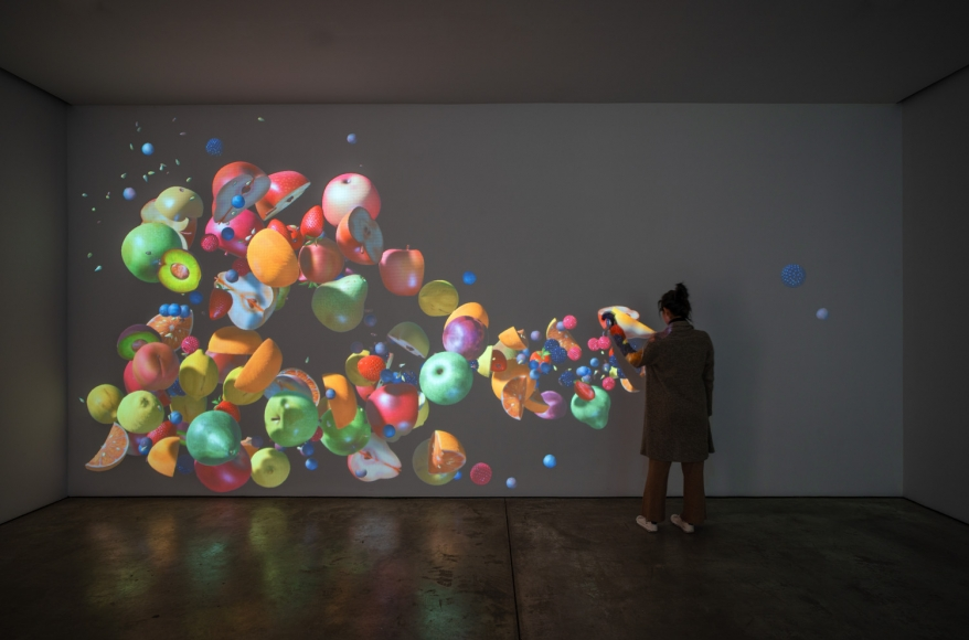 Jennifer Steinkamp, Impeach, Installation view, Lehmann Maupin, New York, 2019