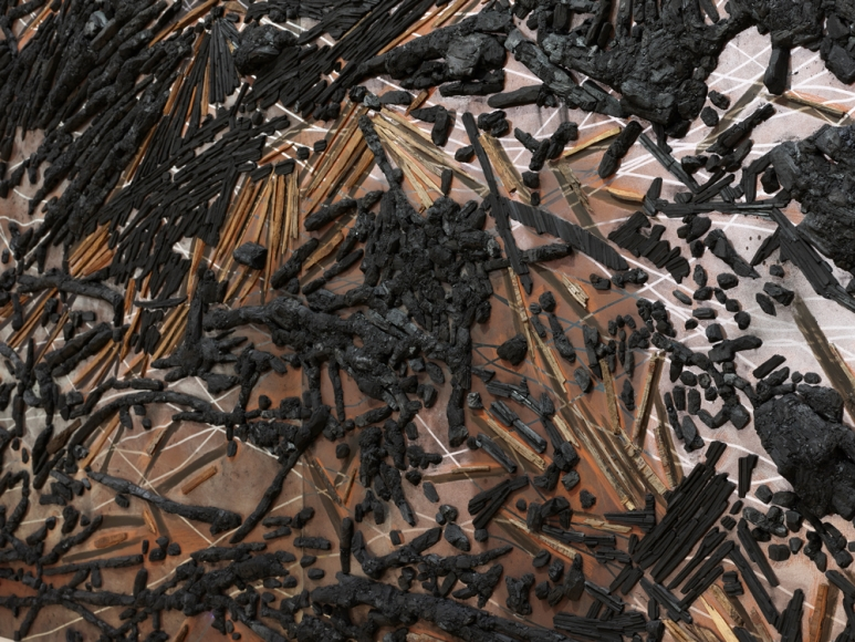 TERESITA FERNÁNDEZ , Black Beach(Unpolished Diamond) 3 (detail), 2020