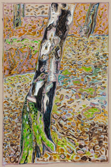BILLY CHILDISH, birch with moss, 2016