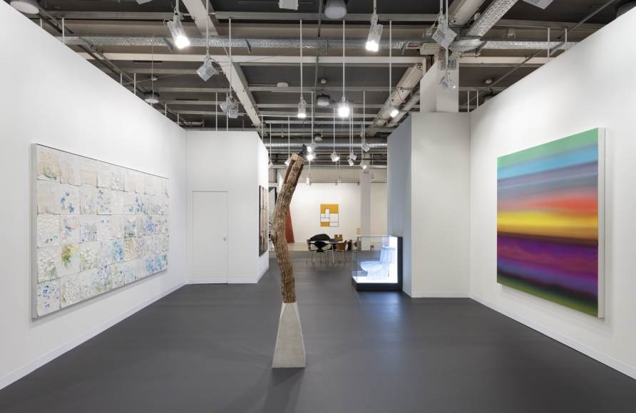 Lehmann Maupin Art Basel 2019 booth, installation view, perspective 1