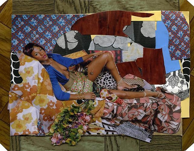 MICKALENE THOMAS Tamika Sur Une Chaise Longue, 2008