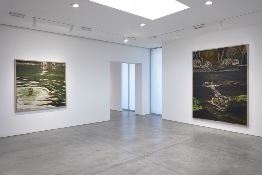 Installation view of Billy Childish exhibition at Lehmann Maupin gallery, New York, 2020, view 3