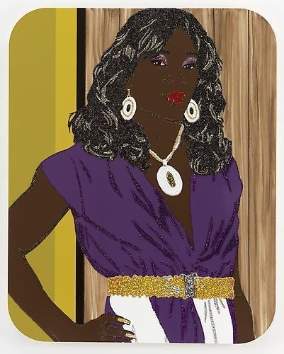 MICKALENE THOMAS Portrait of Qusuquzah #2 , 2009