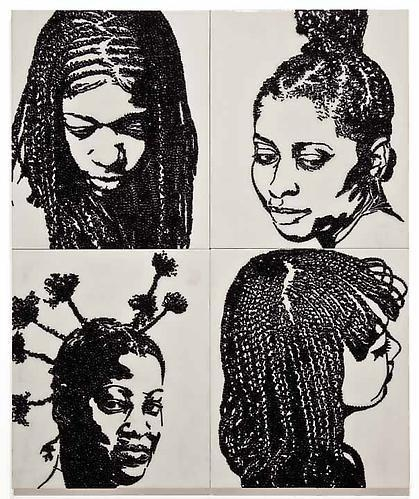 MICKALENE THOMAS Hair Portrait 4, 2011