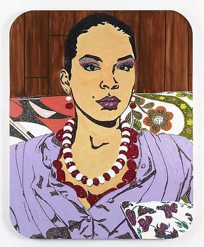 MICKALENE THOMAS Portrait of Lili, 2012