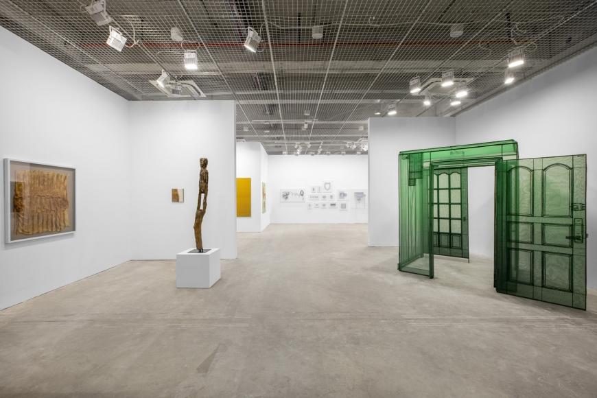 View of Lehmann Maupin's art fair booth at West Bund Art & Design 2018, perspective 1