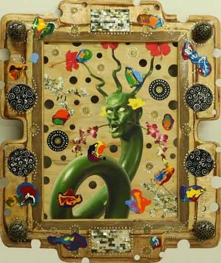ASHLEY BICKERTON Snake head Painting, 2008
