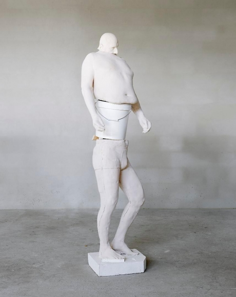ERWIN WURM White Bucket (Synthesa), 2013