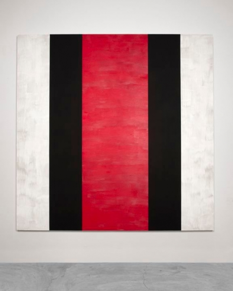 MARY CORSE Untitled (White, Black, Red), 2015