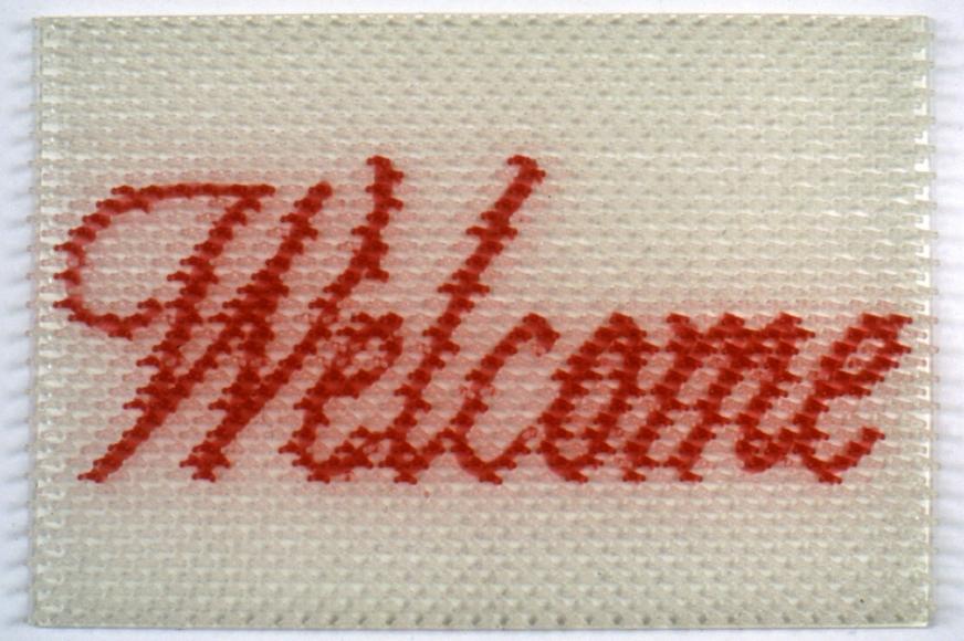 DO HO SUH, Doormat:Welcome (White), 2000