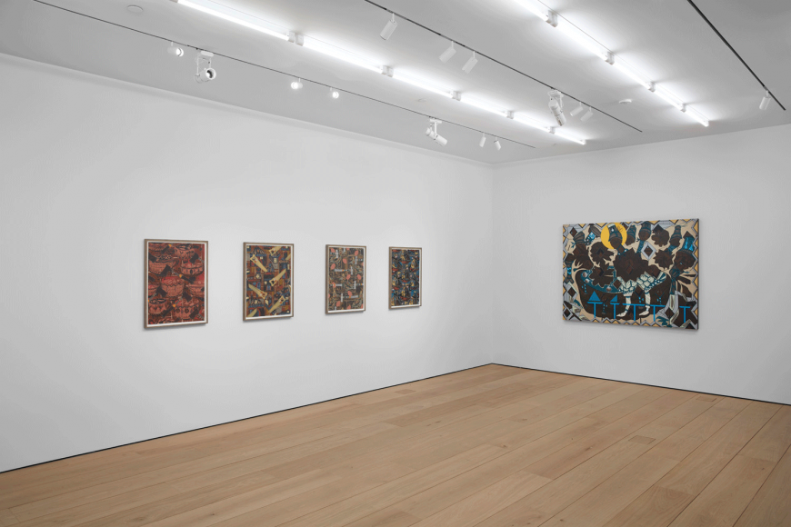 Lari Pittman, Found Buried, Installation view, Lehmann Maupin, New York, 2020