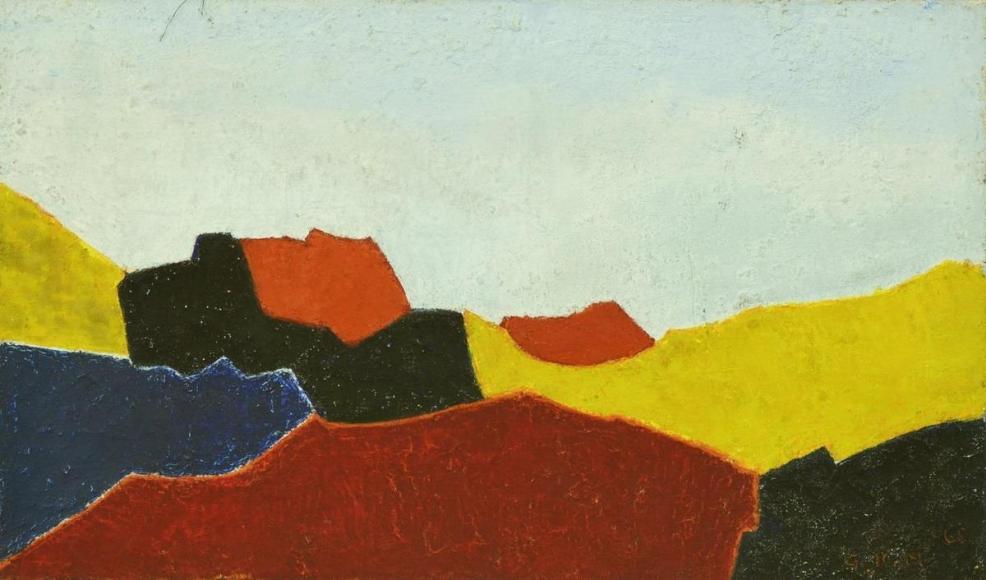 金麒麟 Untitled,1966 油彩 畫布