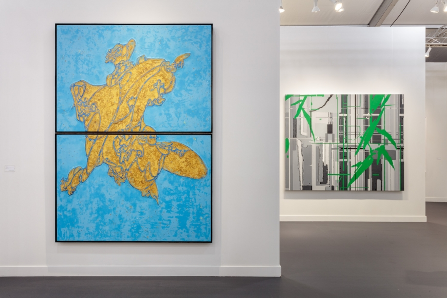 Lehmann Maupin's art fair booth at Frieze Los Angeles 2020 view 4