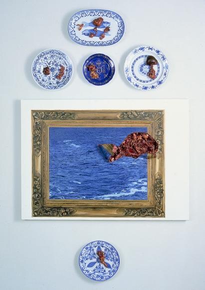 ADRIANA VAREJÃO, Carne Marinha (cinco pratos), [Marine Meat (five plates)], 1999