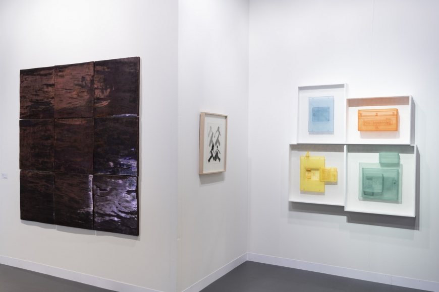 Lehmann Maupin Art Basel 2019 booth, installation view, perspective 4