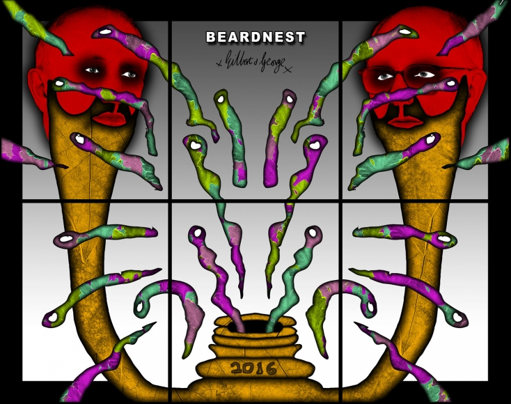 GILBERT & GEORGE, BEARDNEST, 2016