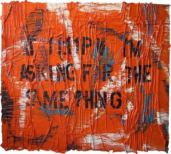 ANGEL OTERO At 11:11 PM I'm asking for the same thing, 2011 collaged oil paint skins on canvas 87 x 97.5 x 3 inches 221 x 247.7 x 7.6 cm LM14740
