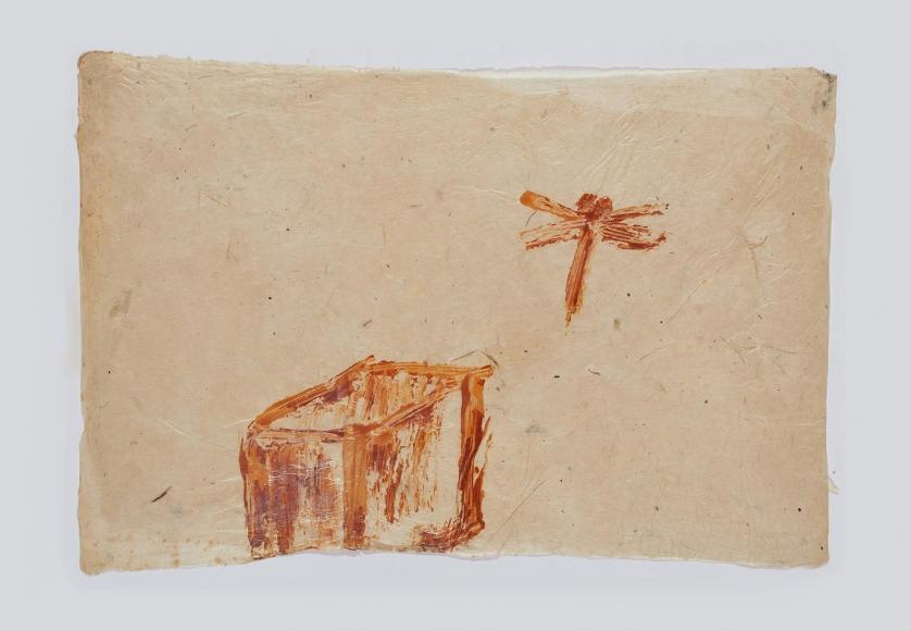 HEIDI BUCHER, haus mit libelle, 1981
