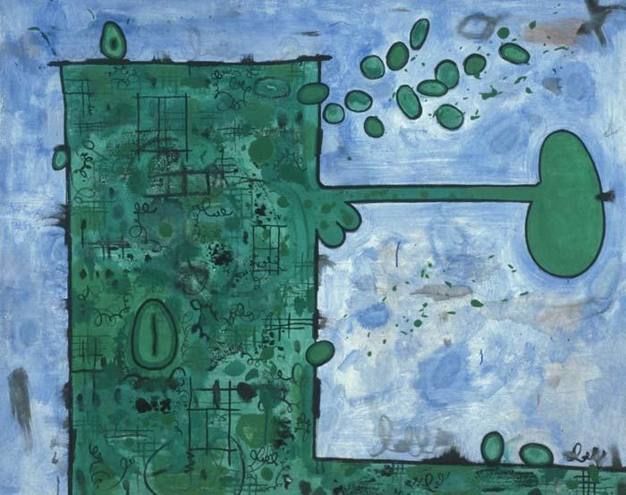 CARROLL DUNHAM, Green Box in a Blue Field, 1995-96