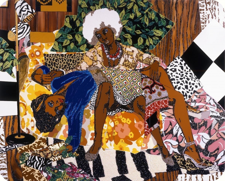 MICKALENE THOMAS, La Lecon d'amour, 2008