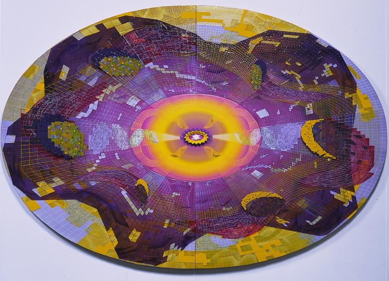 PEDRO BARBEITO, The Crab Nebula: Two Neutron Stars Colliding, 2000