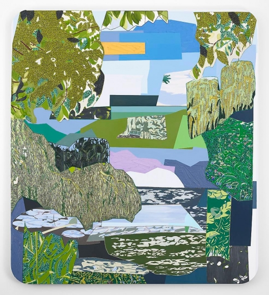 MICKALENE THOMAS Vertical View of Jardin d'Eau, 2012