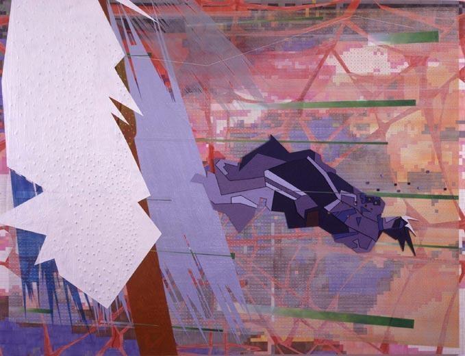 Fallen, 2002 acrylic on canvas