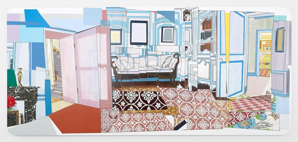 MICKALENE THOMAS Interior: Monet's Blue Foyer, 2012