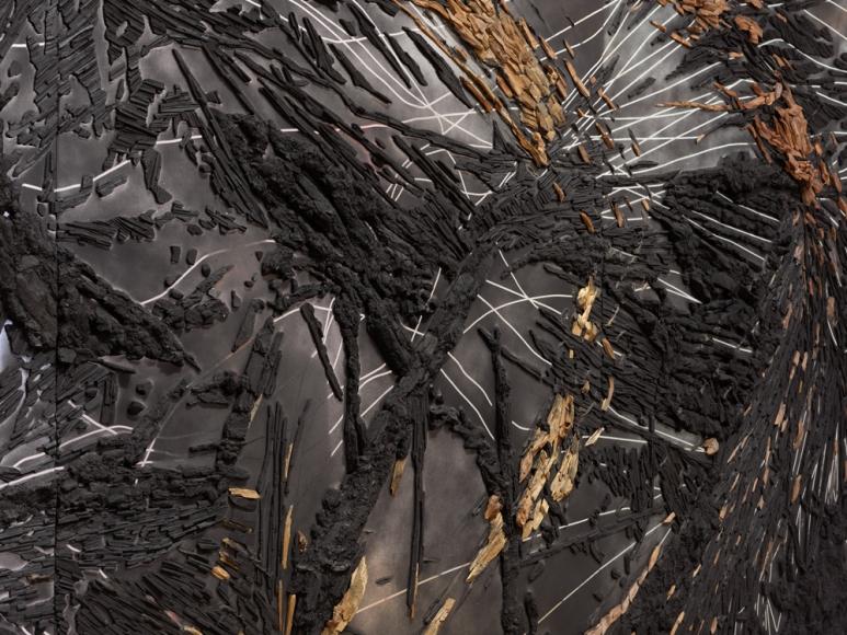 TERESITA FERNÁNDEZ, Black Beach(Unpolished Diamond) 1(detail), 2020