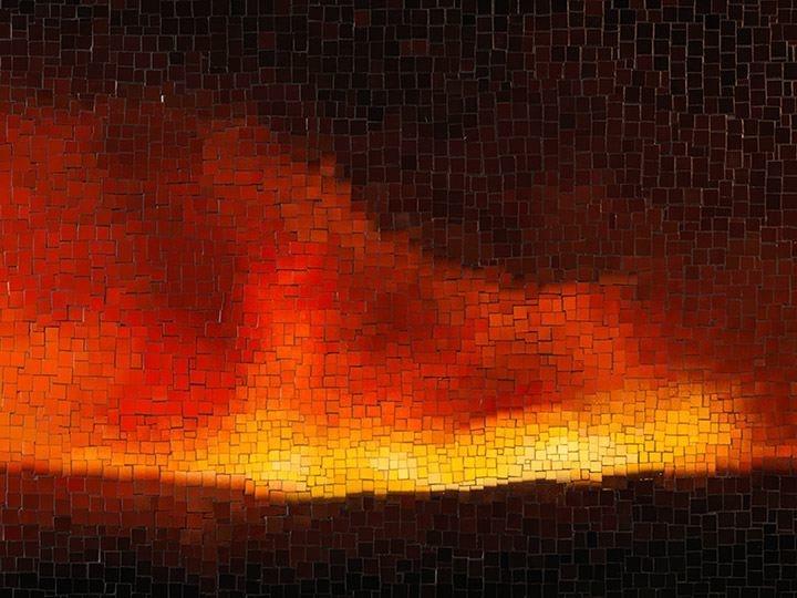 TERESITA FERNÁNDEZ, Fire (America) 3(detail),2016