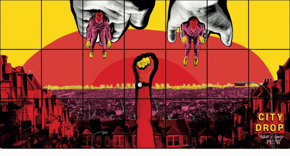 GILBERT & GEORGE, CITY DROP, 1991
