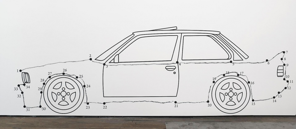 ROBIN RHODE Paries Pictus - Connect the Dots: Car, 2013