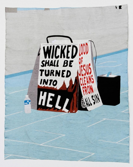 EKO NUGROHO The World Words series (Wicked Shall be Turned Into Hell), 2012