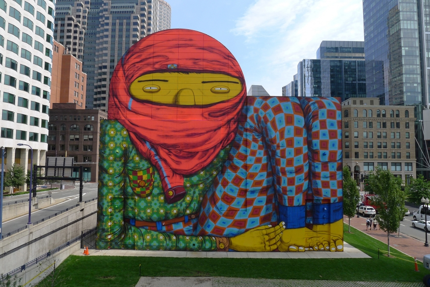OSGEMEOS, Giant, Dewey Square, Boston