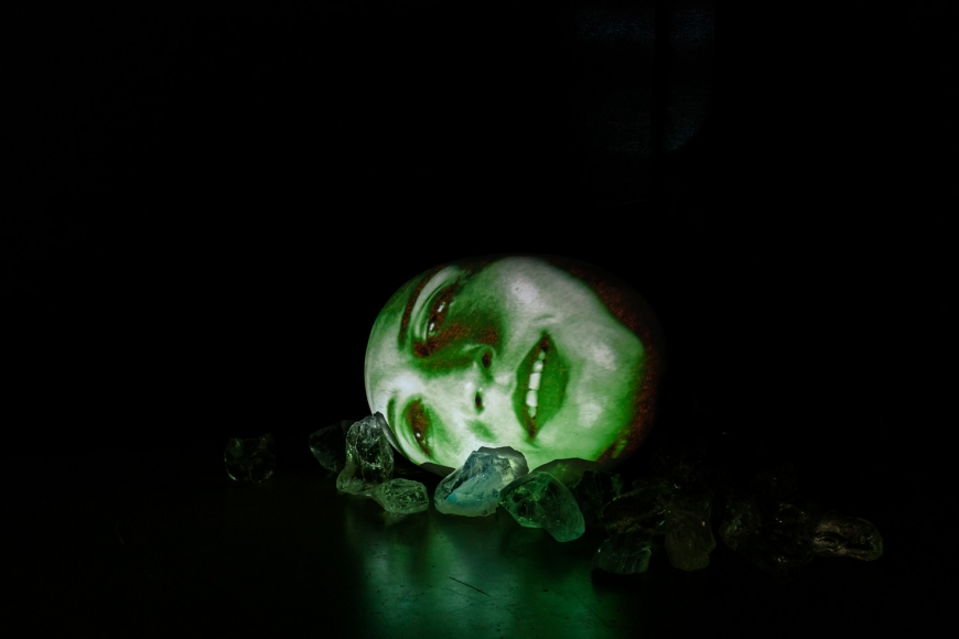 Installation view of special exhibition by Tony Oursler at Taipei Dangdai art fair 2020, view 2