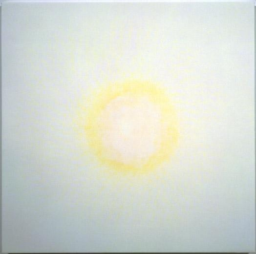 Dust, 1998 white aquacryl with pigment and pencil on canvas
