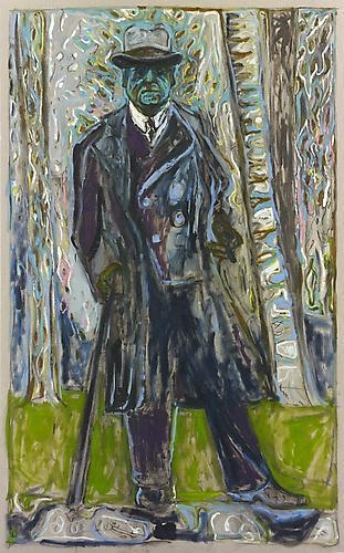 BILLY CHILDISH Sibelius (Man with Stick), 2011