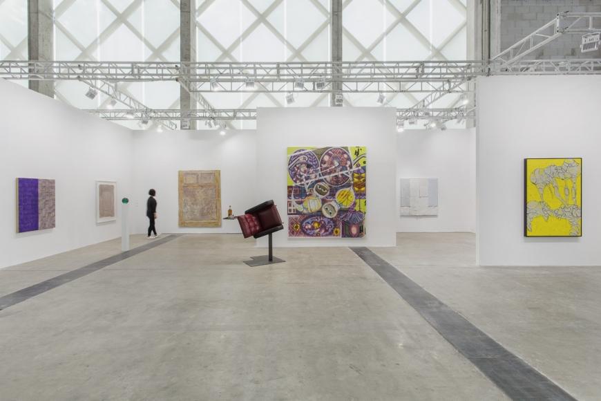 Installation view of Lehmann Maupin's booth at West Bund Art & Design 2019 in Shanghai, view 1