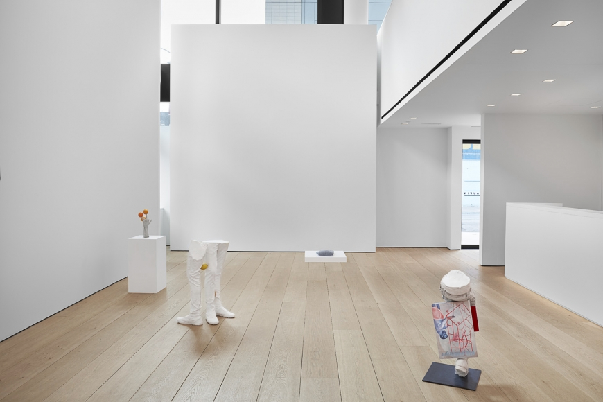 Installation view of Erwin Wurm's exhibition Yes Biological at Lehmann Maupin, New York, 2020, View 3