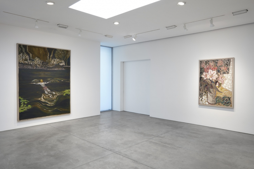 Installation view of Billy Childish exhibition at Lehmann Maupin gallery, New York, 2020, view 2