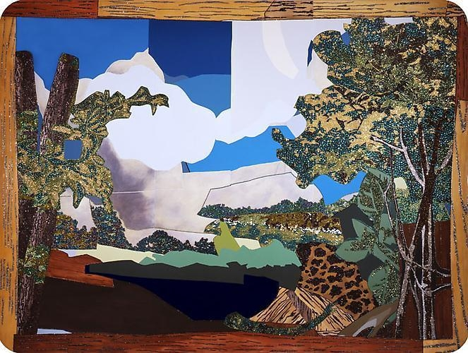MICKALENE THOMAS Landscape with woman washing her feet, 2008