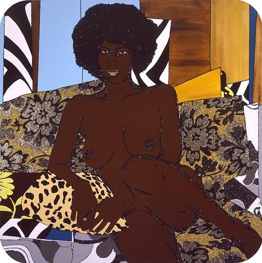 MICKALENE THOMAS Afro Goddess Looking Forward, 2007