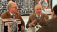 LM ARTIST VIDEO SERIES: GILBERT & GEORGE, 2012, Gilbert & George sit down for tea with writer Anthony Haden-Guest in this edition of LM Artist Video Series as they discuss their newest series of work, 'London Pictures', on view April 26, 2012 through June 23, 2012 at both Lehmann Maupin's New York locations as well as Sonnabend Gallery.