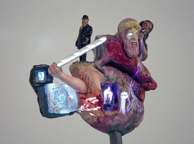 TONY OURSLER Untitled (detail), 2010