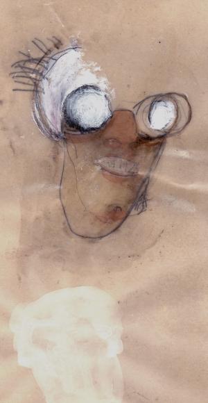 Il Coccodeista (Self-portrait with pechan prisms), 1997