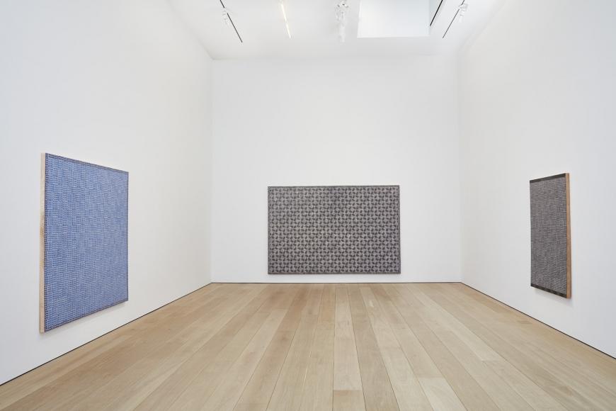 McArthur Binion,Hand:Work Installation view, Lehmann Maupin, New York,2019