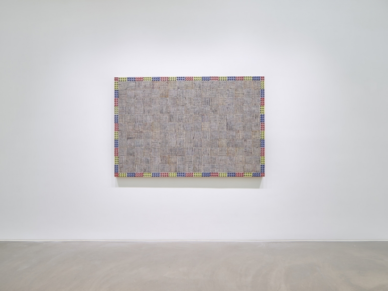 McArthur Binion, Hand:Work:II, Installation view at Lehmann Maupin, Hong Kong