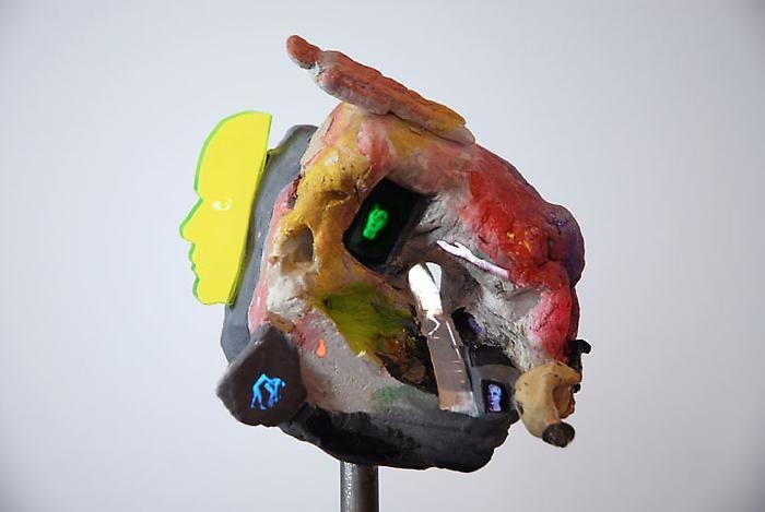 TONY OURSLER Valley (Flowchart) (detail), 2010